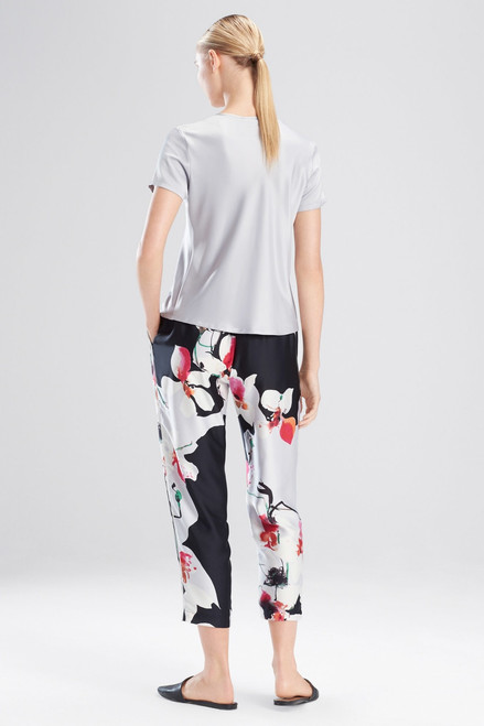 Feathers Satin Elements T-Shirt Top at The Natori Company
