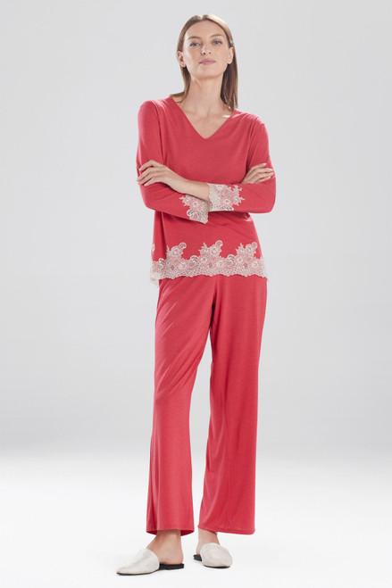 Heather Brocade Red