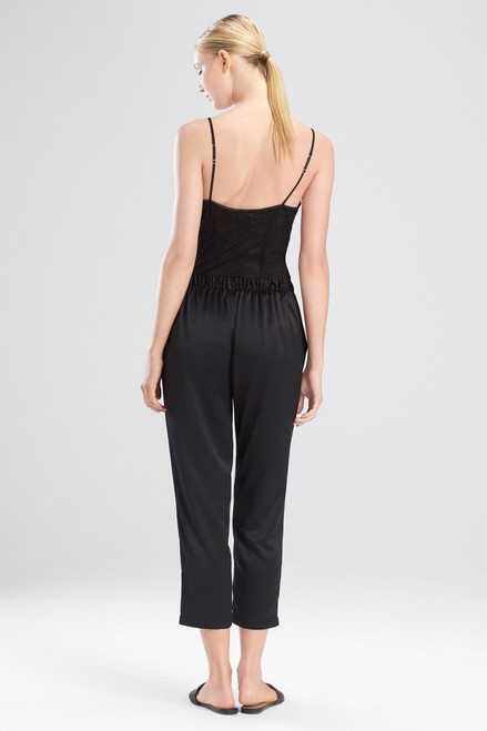 Feathers Satin Elements Cropped Pants at The Natori Company