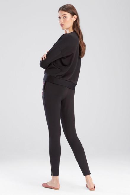 Josie Otherwear Fleece Embroidered Sweatshirt Top at The Natori Company