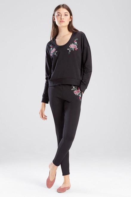 Buy Josie Otherwear Fleece Embroidered Sweatshirt Top from