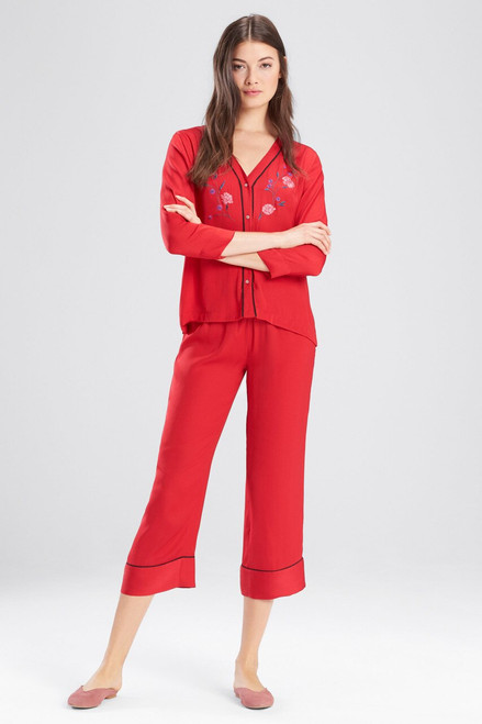 Buy Josie Bardot Satin Embroidered PJ Set With Eyemask from