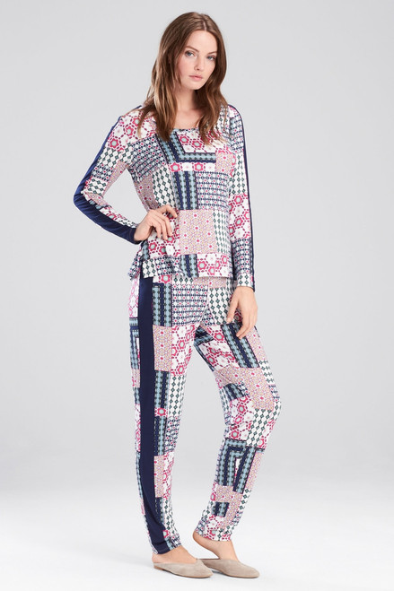 Josie Slumber Party Printed PJ With Eyemask at The Natori Company