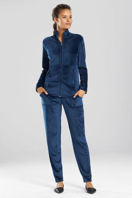 Buy N Natori Velour Zip-Up Jacket from