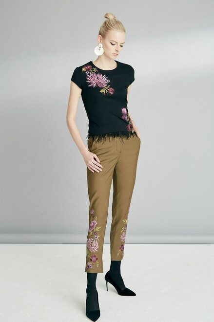 Josie Natori Novelty Tees T-Shirt With 3D Embroidery  at The Natori Company