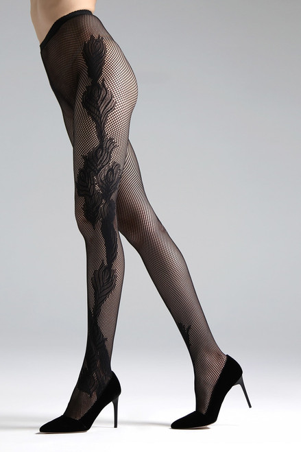 f6a12757c4923 Feathers Lace Net Tights - The Natori Company