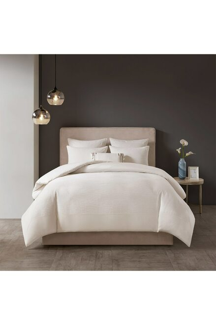 Buy N Natori Hanae White Comforter Set from