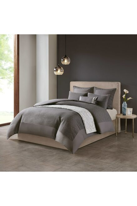 Buy N Natori Hanae Gray Comforter Set from