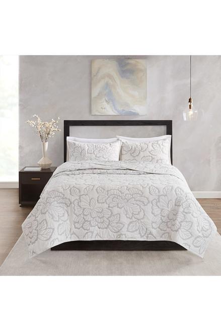 Buy N Natori Kira Quilt White Comforter Set from