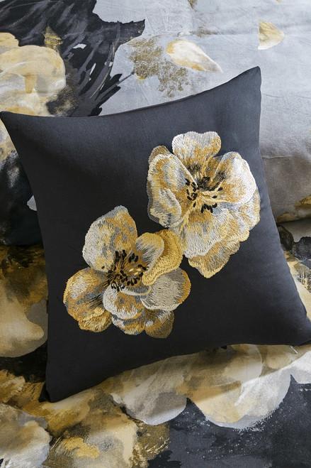 N Natori Casa Noir Embroidered Pillow at The Natori Company