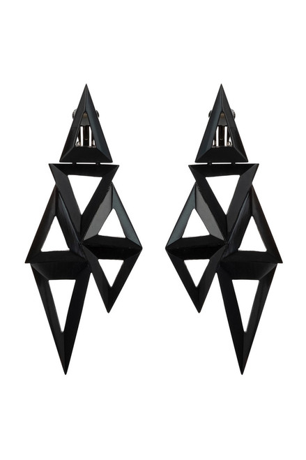 Buy Horn Triangle Geo Earrings from