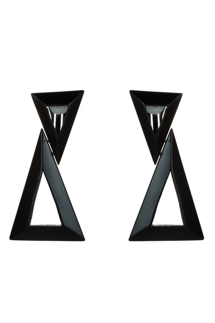 Buy Horn Double Triangle Earrings from