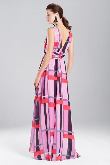 Josie Natori Taisho Stripes Voile Maxi Dress at The Natori Company