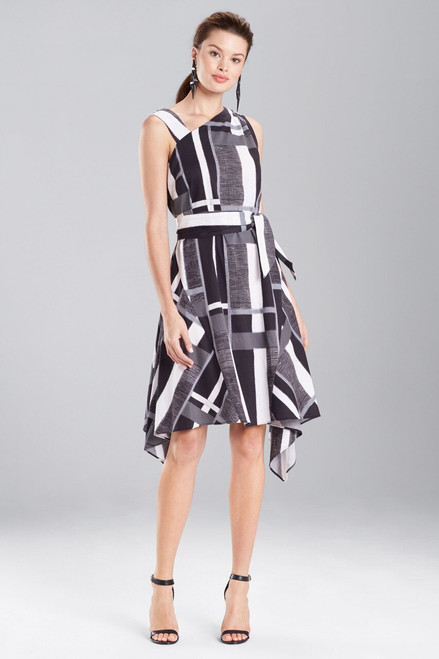 Buy Josie Natori Taisho Stripes Cotton Belted Dress from