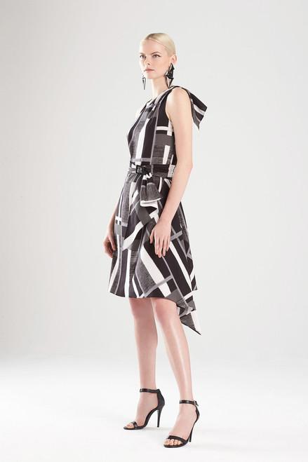 Josie Natori Taisho Stripes Cotton Belted Dress at The Natori Company