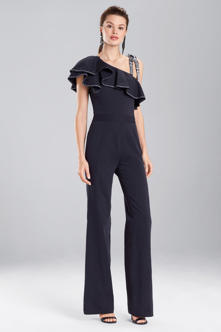 Buy Josie Natori Denim Ruffle Jumpsuit from