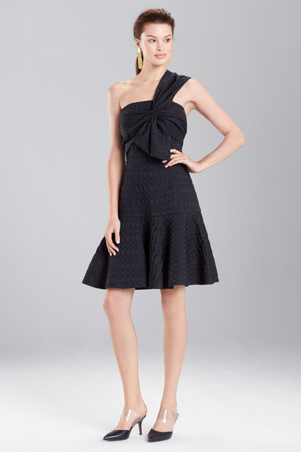 Buy Texture Geo Jacquard One-Shoulder Dress from