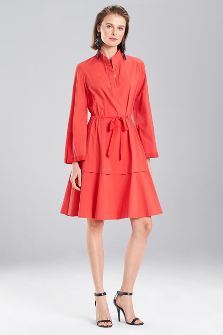 Buy Josie Natori Cotton Poplin Mandarin Dress from