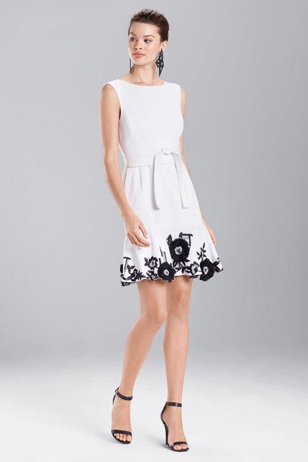 Buy Josie Natori Denim Embroidered Dress from