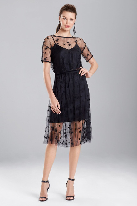 Buy Josie Natori Embroidered Mesh Top from