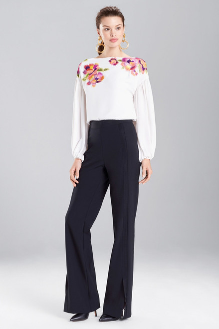 Silky Soft Embroidered Top at The Natori Company