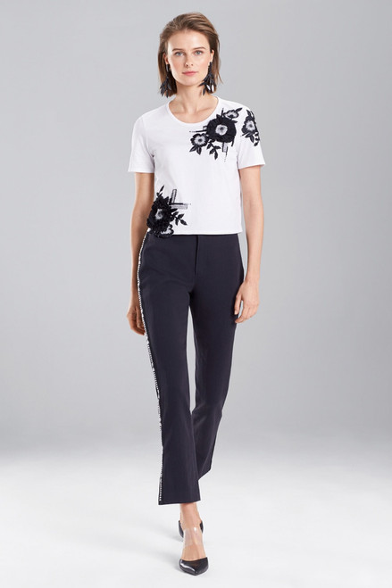 Buy Josie Natori Novelty Tee's 3D Embroidered Top from