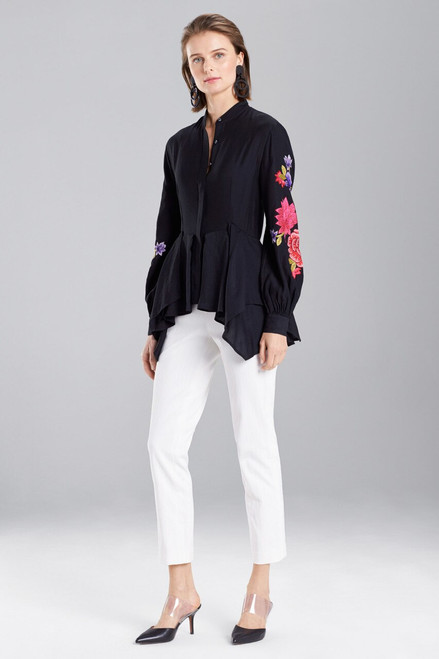 Buy Josie Natori Cotton Like Embroidered Tunic Top from