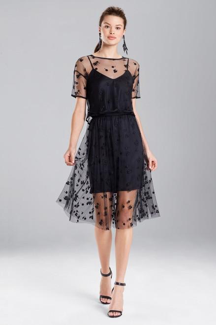 Buy Josie Natori Embroidered Mesh Skirt from