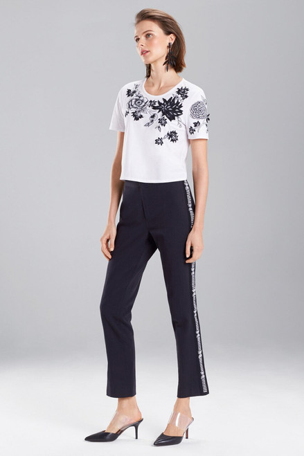 Buy Josie Natori Denim Embroidered Pants from