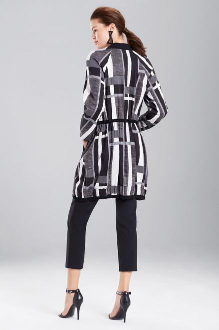 Josie Natori Taisho Stripes Cotton Jacket at The Natori Company
