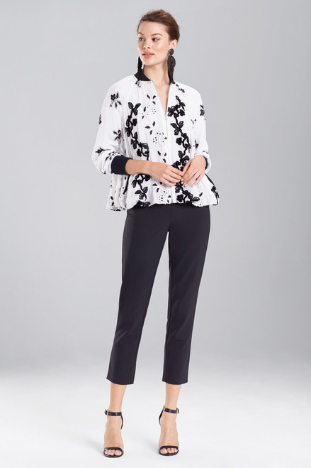 Buy Josie Natori Embroidered Bomber Jacket from