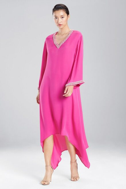 Buy Couture Trim Beaded High-Low Caftan from