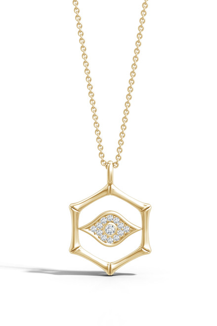 Indochine Spirit Evil Eye Diamond Necklace