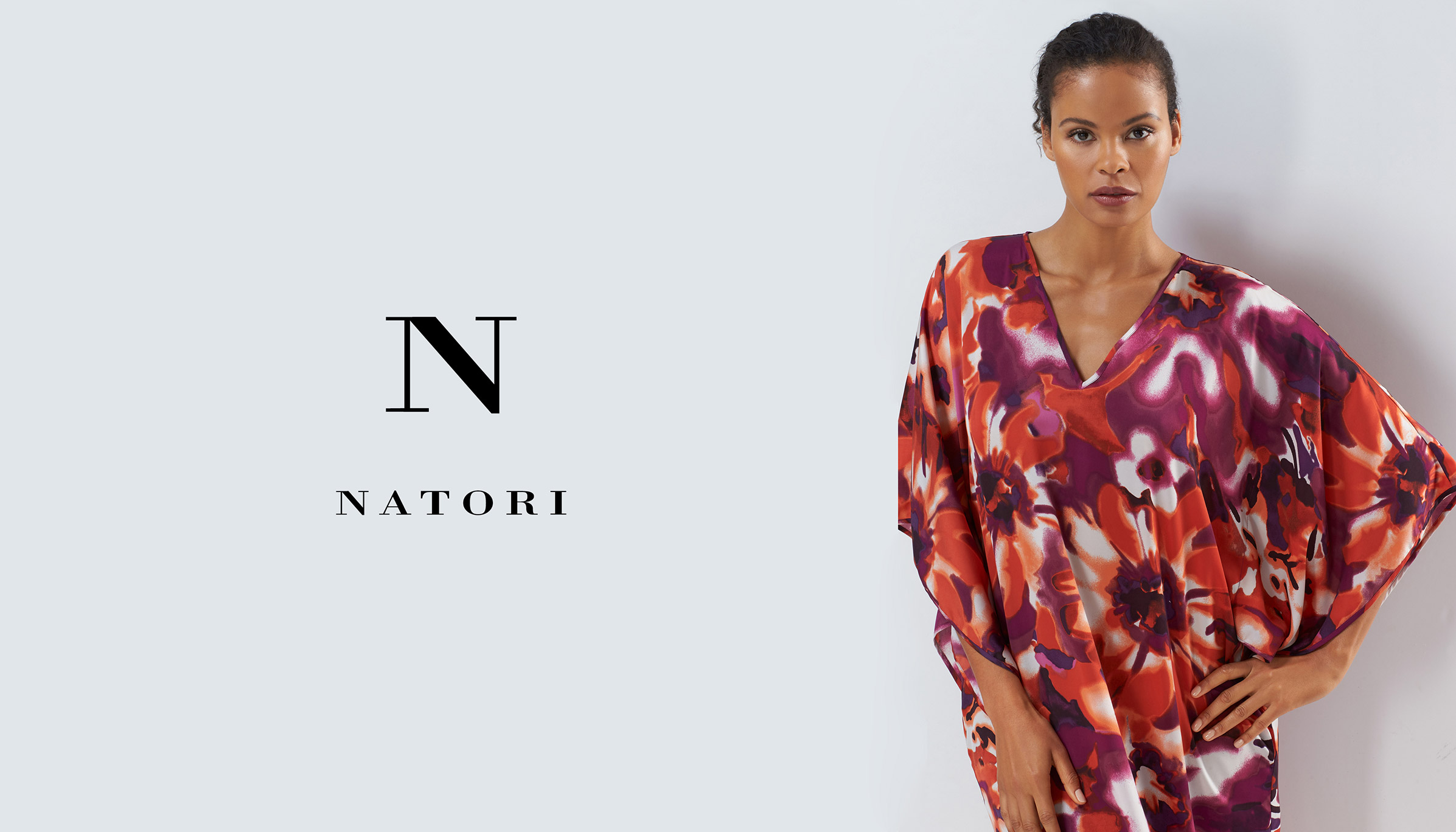 Model wearing N Natori Caftan