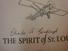"""Lindbergh, Charles """"The Spirit Of St. Louis"""" 1956 Book Signed Autograph"""