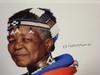 Mahlangu, Esther Color Photo Signed Autograph Africa