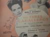 "Disney, Disney Disney Walt ""The Three Caballeros"" 1944 Sheet Music Signed Autograph Original Disney Animation Artwork"