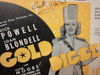 """Blondell, Joan and Dick Powell """"Gold Diggers Of 1937"""" Sheet Music 1936 Signed Autograph """"With Plenty Of Money And You"""" Cover Photos"""