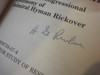 """Rickover, Hyman Admiral """"No Holds Barred The Final Congressional Testimony of Admiral Hyman Rickover"""" 1982 Book Signed Autograph"""