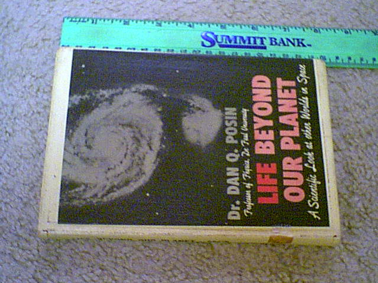 Posin, Dr. Dan Q.-Life Beyond Our Planet-Book-Signed 1962