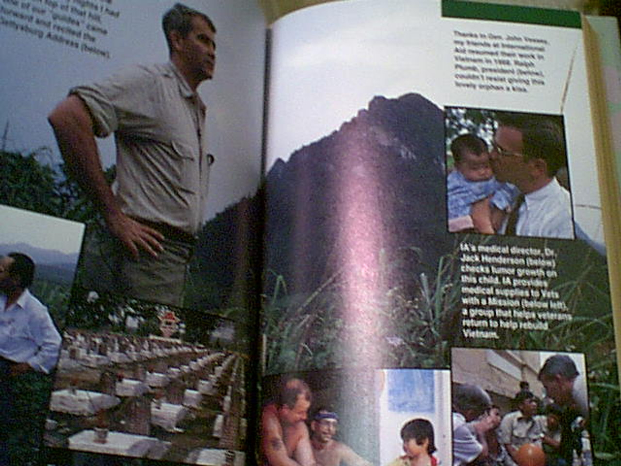 """North, Oliver """"One More Mission-Oliver North Returns To Vietnam"""" 1993 Book Signed Autograph Color Photos"""