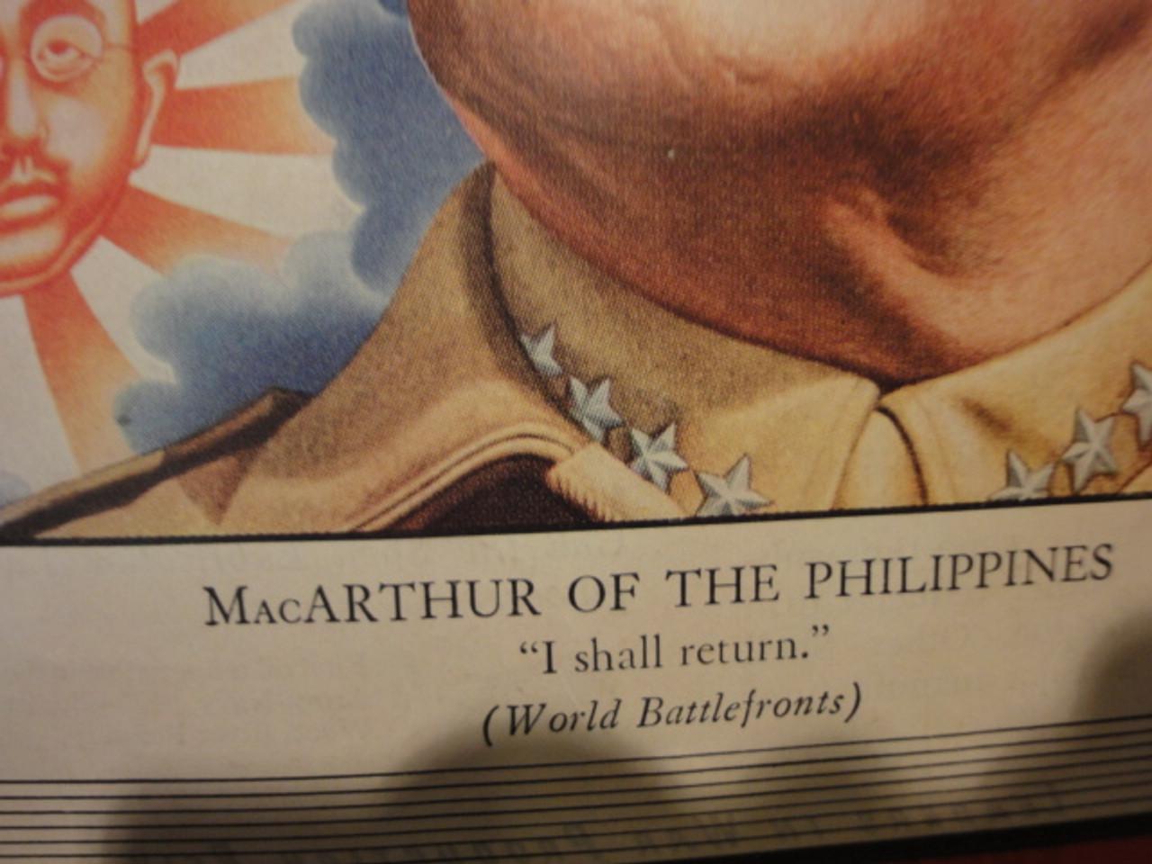 MacArthur, Douglas General Time Magazine Cover 1944 Signed Autograph WW II