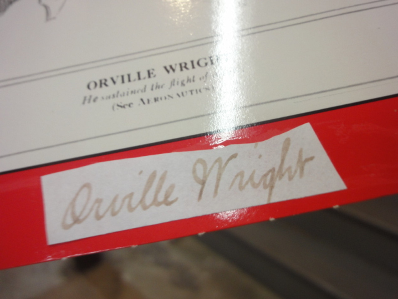 """Wright, Orville """"Time"""" Magazine Cover 1928 Signed Autograph Wright Brothers"""