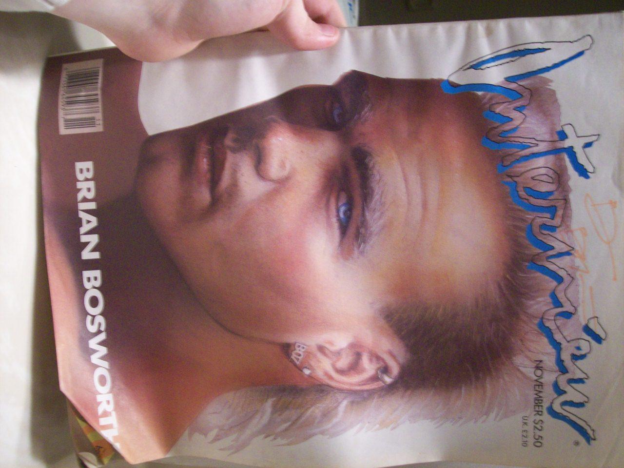 Bosworth, Brian Interview Magazine Signed Autograph November 1987