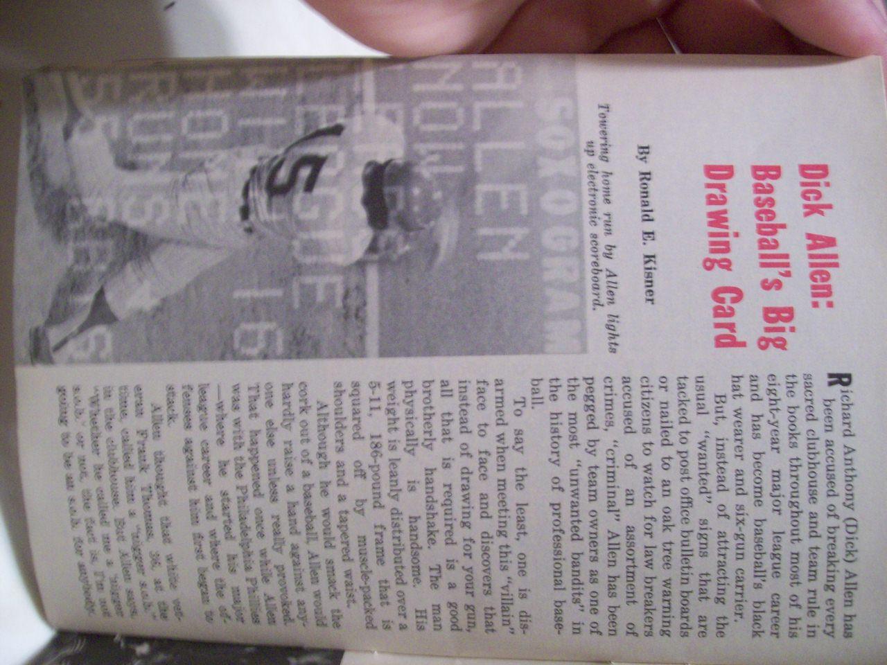 Allen, Dick Richie Jet Magazine Signed Autograph 1972