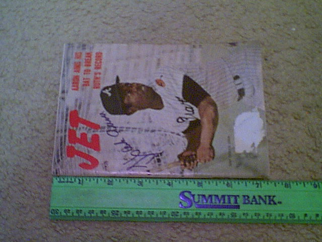 "Aaron, Hank ""Jet"" Magazine 1972 Signed Autograph Color Cover Photo Baseball"