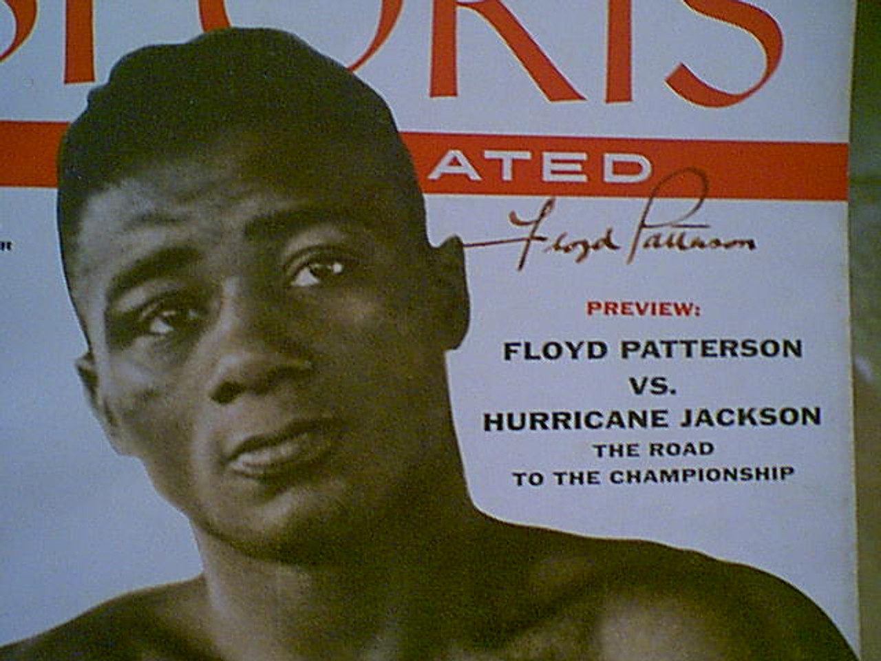 """Patterson, Floyd """"Sports"""" Magazine Boxing 1956 Signed Autograph Cover Photo"""