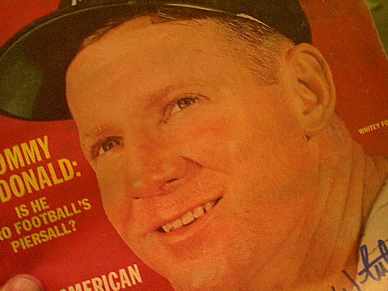 Ford, Whitey Sport Magazine 1963 Signed Autograph Color Cover Photo Baseball