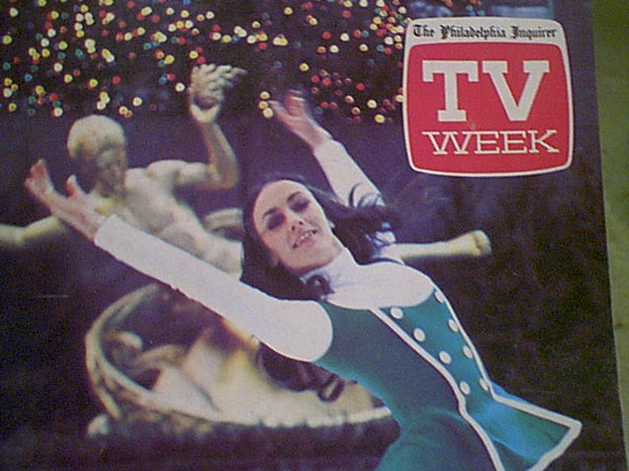 Fleming, Peggy TV Week 1972 Signed Autograph Color Cover Photo Ice Skating