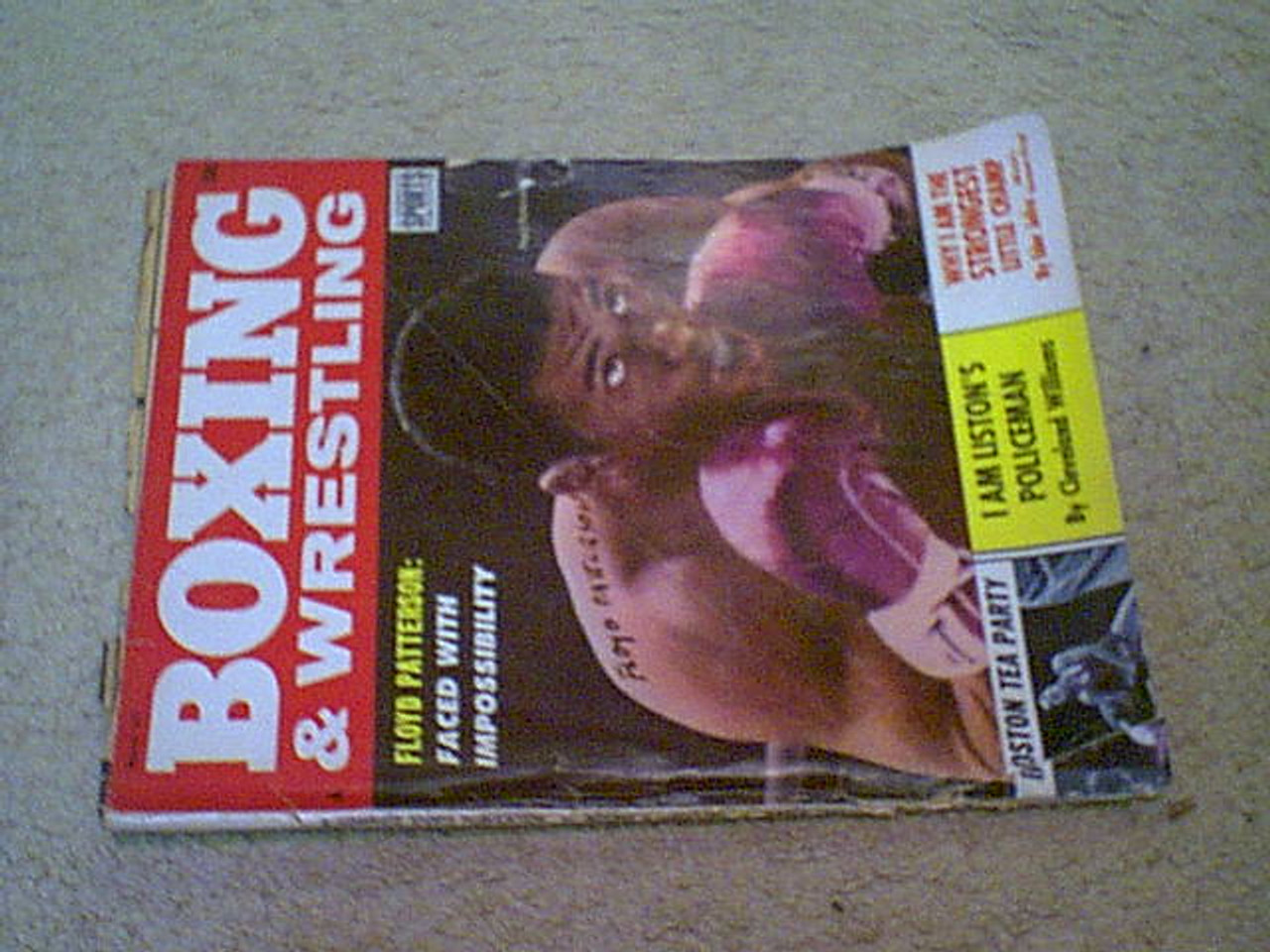 Patterson, Floyd Boxing And Wrestling Magazine 1963 Signed Autograph Cover Photo
